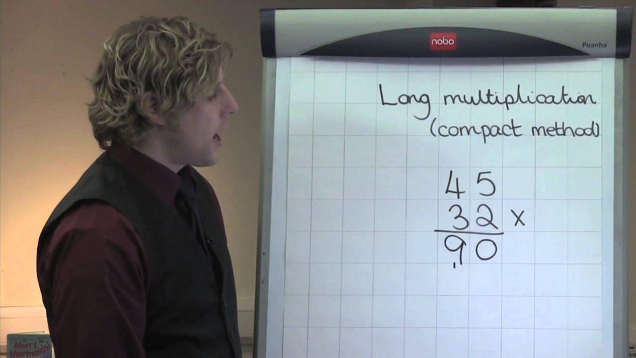 Long Multiplication Using Compact Method TU X TU YouTube – Ks2 Grid Method Multiplication Worksheet