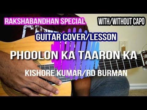 Download Lagu  Phoolon Ka Taaron Ka | Kishore Kumar| RD Burman| Guitar Cover Lesson Mp3 Free