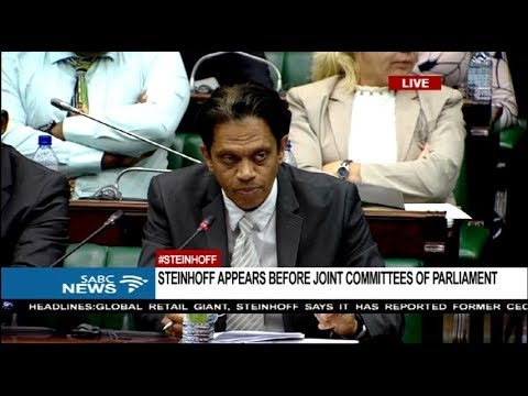 Steinhoff appears before Parliament: 31 January 2018