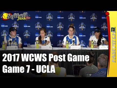 UCLA - 2017 WCWS D1 NCAA Softball | Post Game 7