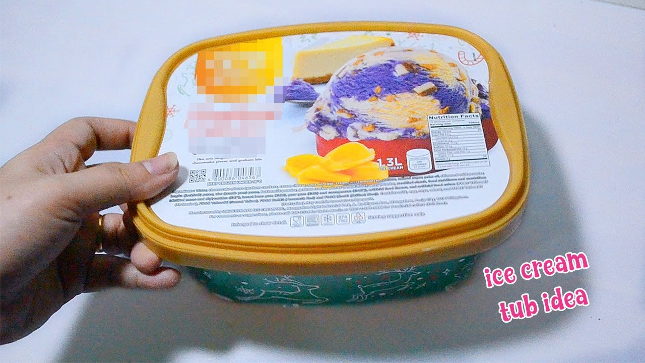 AWESOME ICE CREAM TUB IDEA! Best Reuse Idea With Plastic Container - YouTube