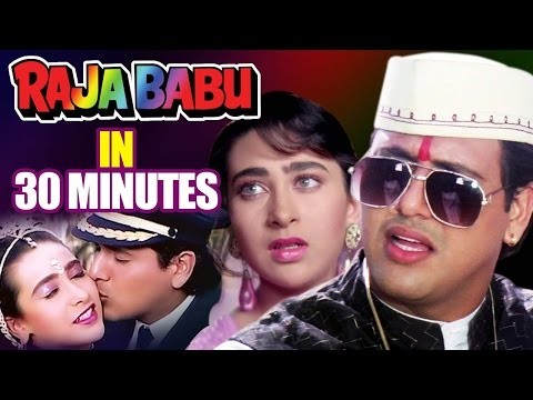 Raja Babu in 30 Minutes | Hindi Comedy Movie | Govinda | Karisma Kapoor