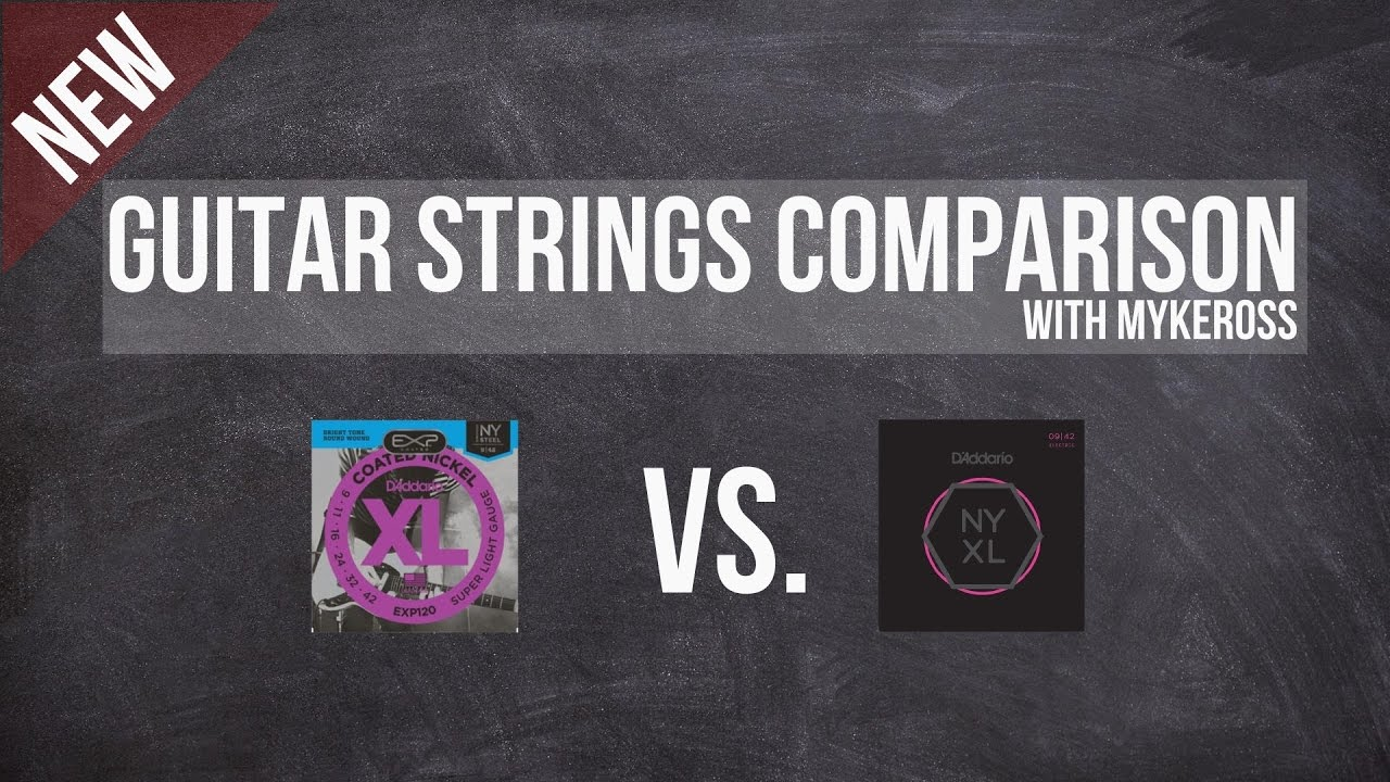 guitar strings comparison 2 nyxl vs d 39 addario xl youtube. Black Bedroom Furniture Sets. Home Design Ideas