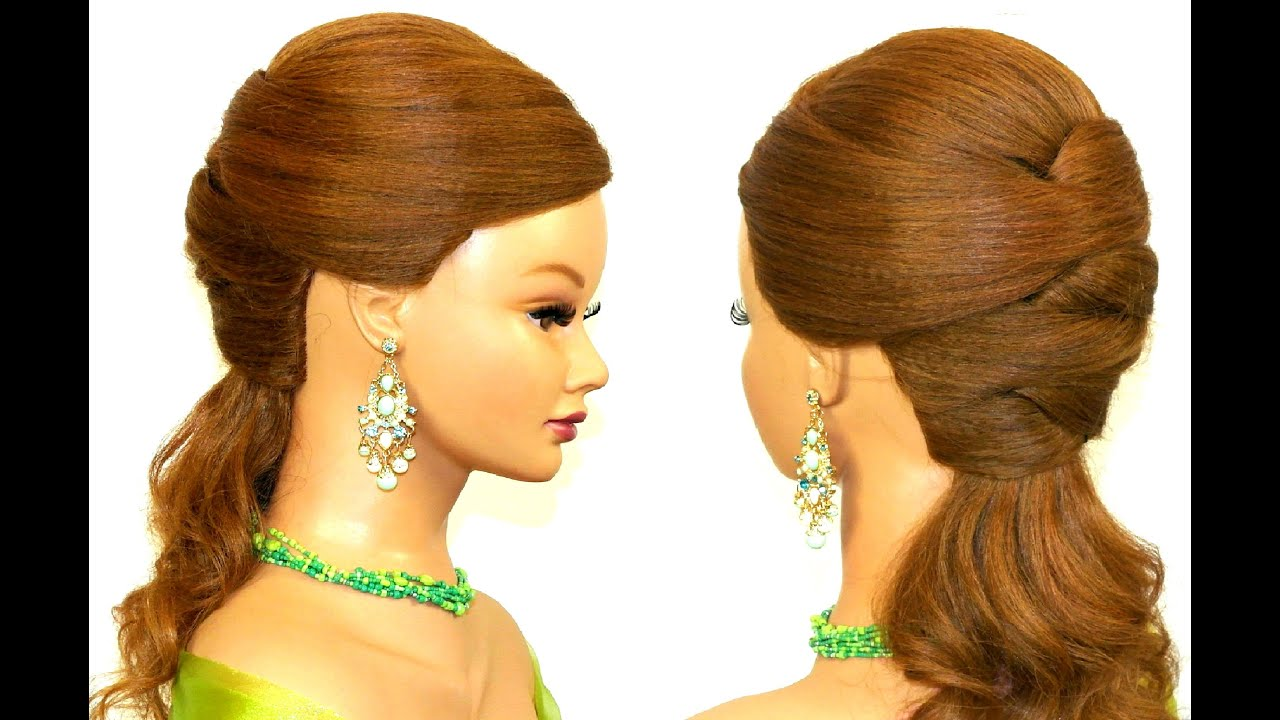 easy prom hairstyle long hair