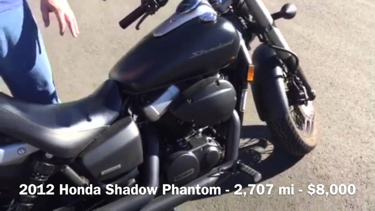 FOR SALE: 2012 Honda Shadow Phantom   2,707 Miles   YouTube