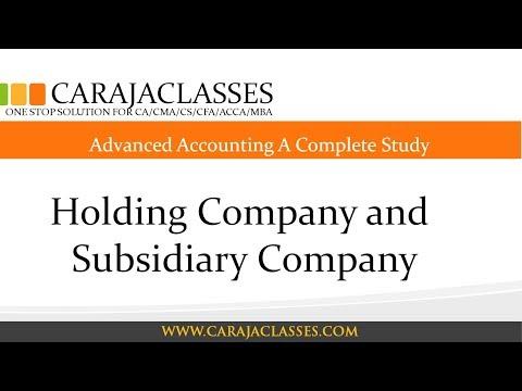Holding Company and Subsidiary Company