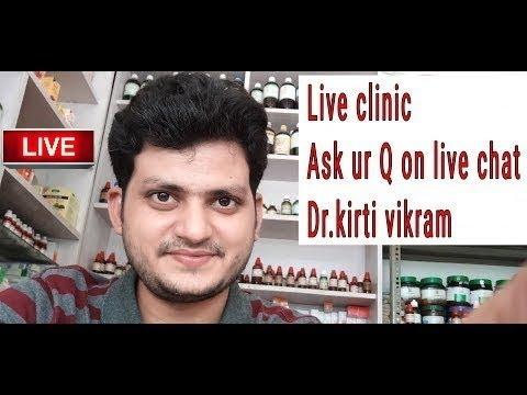 Dr kirti vikram singh LIVE CLINIC ASK UR PROBLEM# 373 14/5/2018