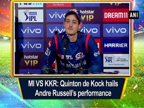 MI VS KKR: Quinton de Kock hails Andre Russell's performance