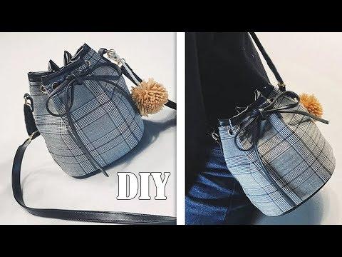 DIY CROSSBODY BAG FASHION DESIGN // Cute Purse Bag Tutorial Easy From Scatch