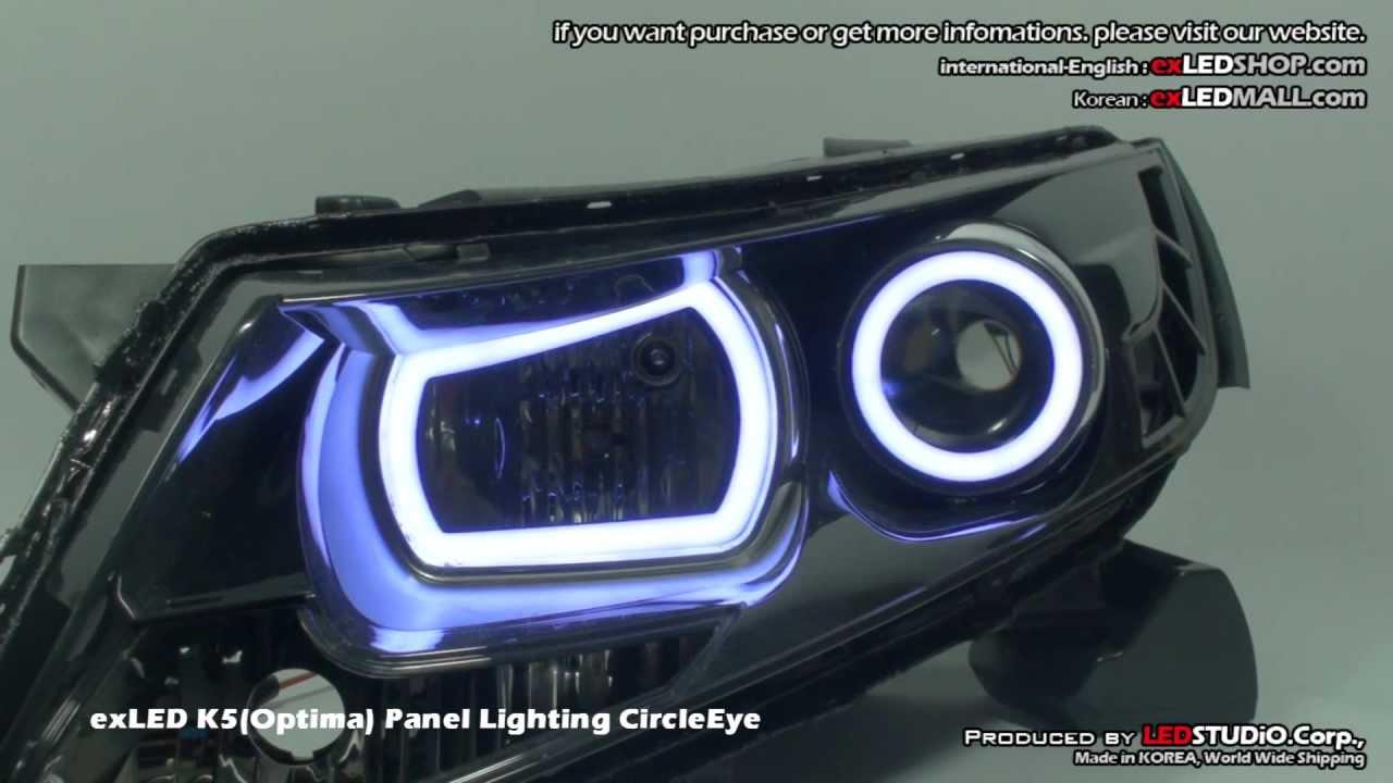exLED K5(Optima) Panel Lighting CircleEye - YouTube