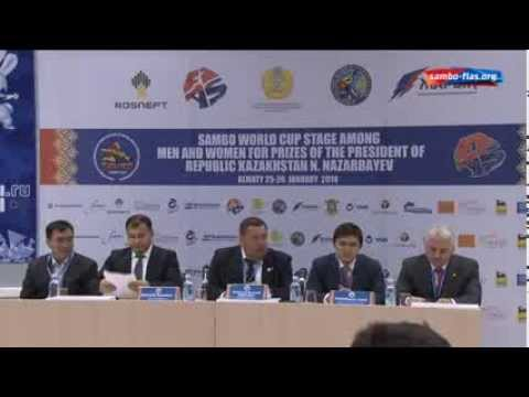 Sambo World Cup in Kazakhstan 2014 Press-conference