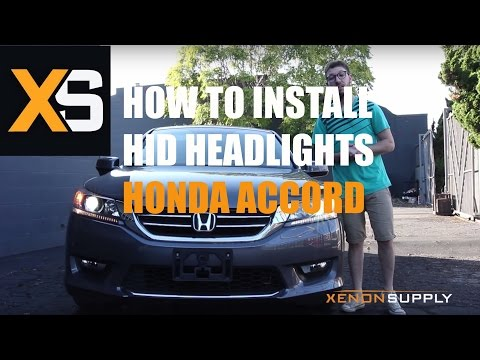 2015 Honda Accord HID Install - DIY HID Xenon Conversion Kit