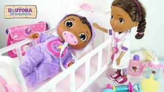 Doc McStuffins Get Better Baby Cece Check Up Doll Disney Nova Bebê Doutora Brinquedos Baby Doll Kid
