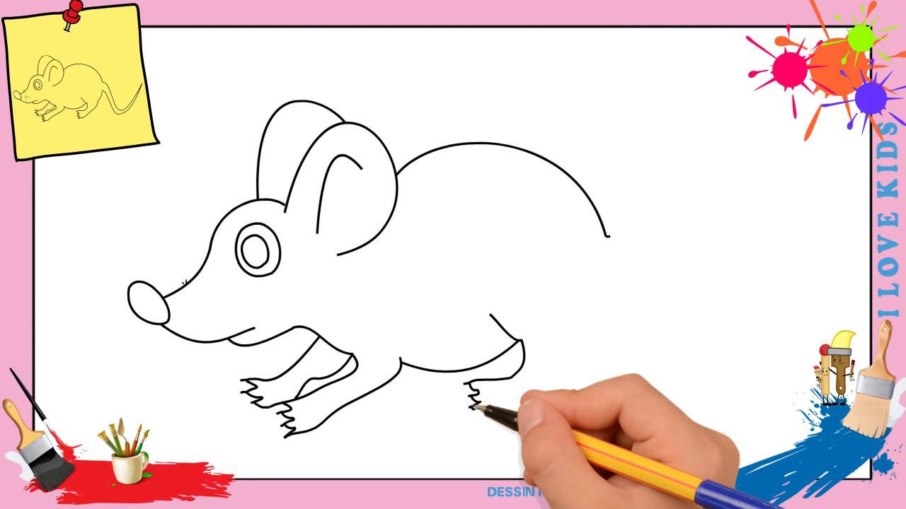 Dessin souris comment dessiner une souris facilement - Comment dessiner une sorciere facilement ...