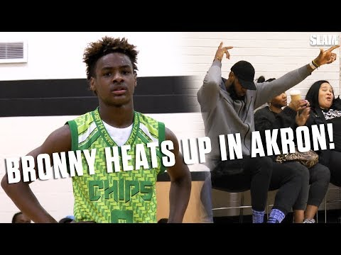 LeBron James Jr. Gets HOT In His Hometown With Dad Watching! | SLAM Highlights