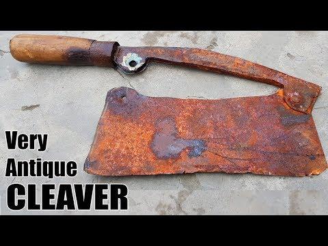 Antique Rusty Butcher's Cleaver RESTORATION