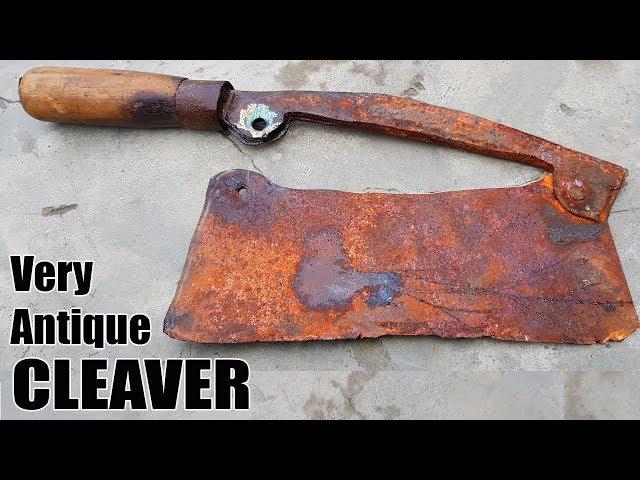 Antique Rusty Butchers Cleaver RESTORATION