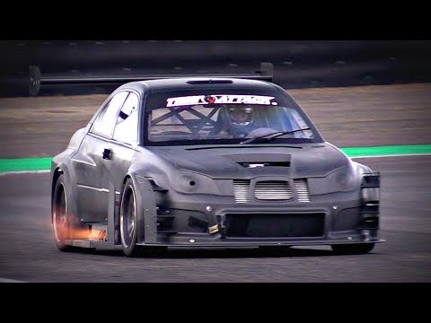 700HP Subaru Impreza STi TIME ATTACK MONSTER In Action   Turbo Sounds & Exhaust Flames!