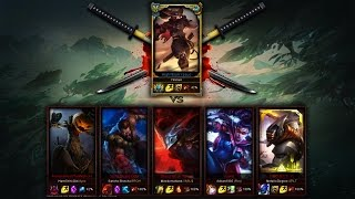Yassuo vs. Five Bronze Players (1v5) - League of Legends