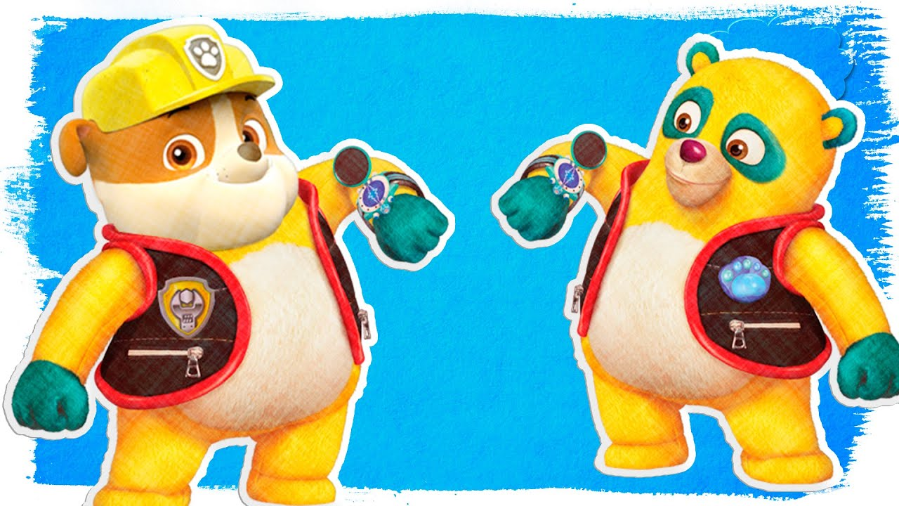 paw patrol rubble as special agent oso fun coloring videos for