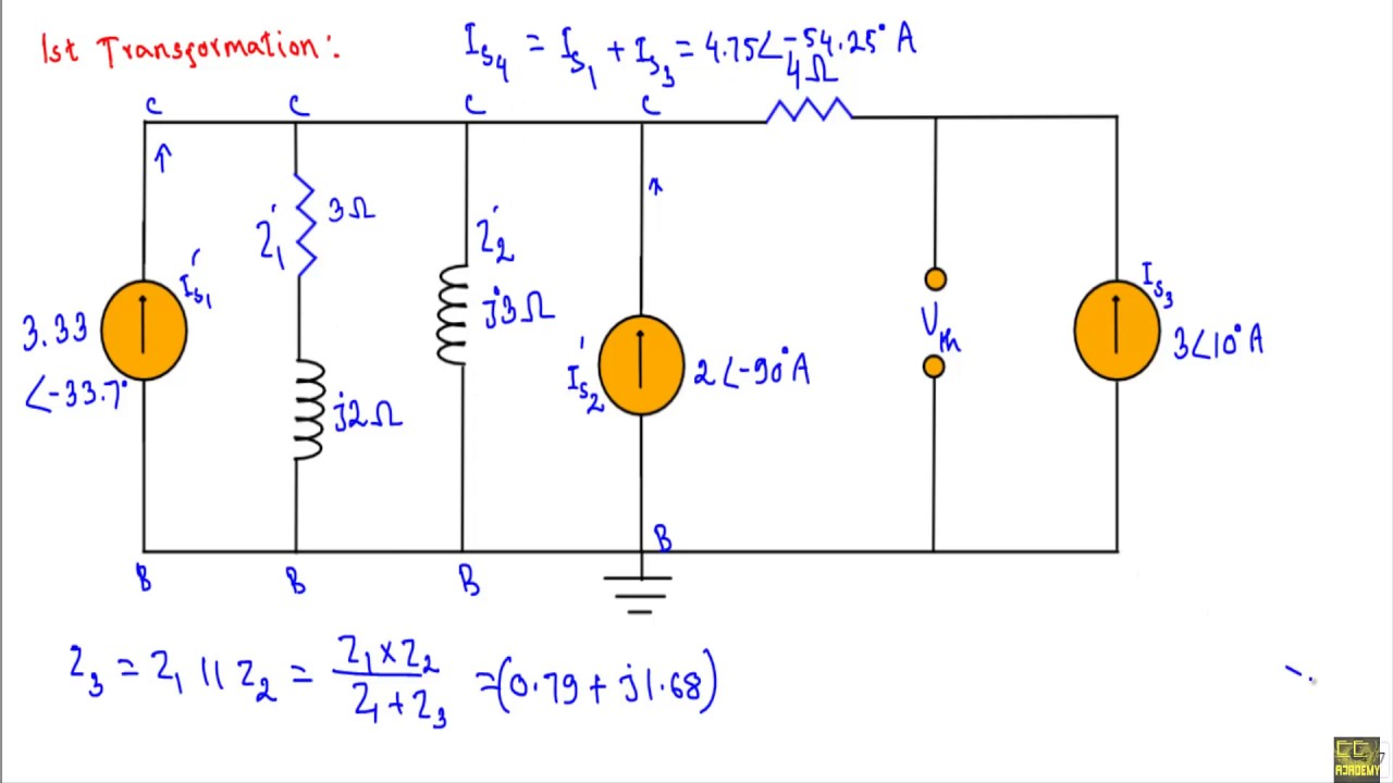 Ac Example Maximum Average Power Transfer Theorem Youtube Circuit Theorems Solved Problems Based On Thevenin