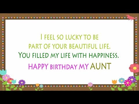 Birthday Wishes For Aunt From Niece Aunt Birthday Card Youtube