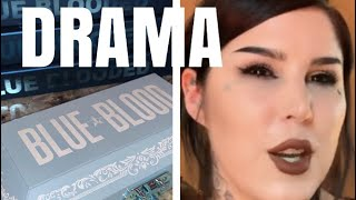 JEFFREE STAR BLUE BLOOD PALETTE REVEAL + KAT VON D DEFENDS RUMORS!