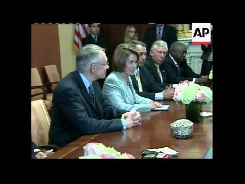 US weighing financial crisis plan; Bernanke briefs Congress Ldrs