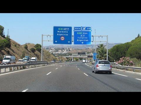 Spain: A-7 • AP-7 Málaga - Marbella (Costa del Sol)