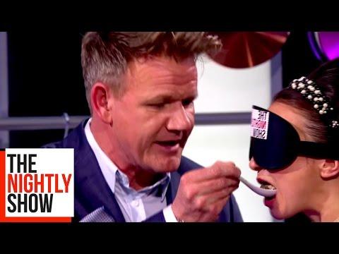 Gordon Ramsay Blindfolds Gizzi Erskine For Hilarious Tasting Game