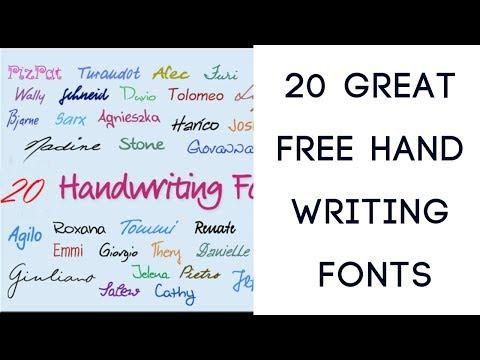 20 Great Free Handwriting Fonts