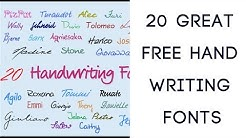 20 Great Free Handwriting Fonts
