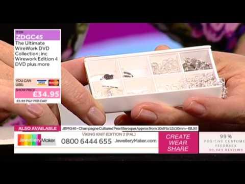 How To Make Gemstone Jewellery Using Wire Mesh - JewelleryMaker LIVE (AM) 23/10/2014