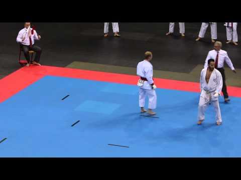 SKIF EM 2014 Dresden, senior team kumite, Denmark-Greece, Lars Henriksen