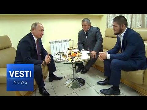 Putin Meets With Khabib! Tries to Convince Dagestani Champion That Extremism a Bad Idea