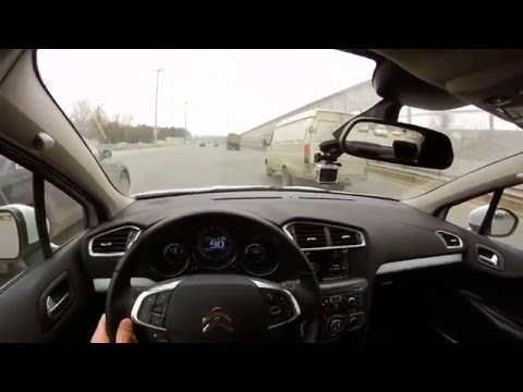 СИТРОЕН С4 СЕДАН / Еще раз о расходе (Road Trip from Moscow, Russia to Sergiev Posad, Russia)