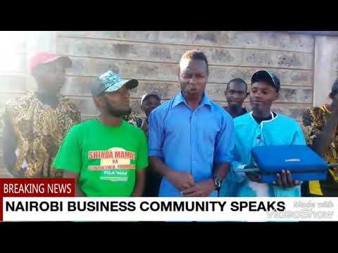 Moses Kuria vs the Nairobi business community at uhuru Park