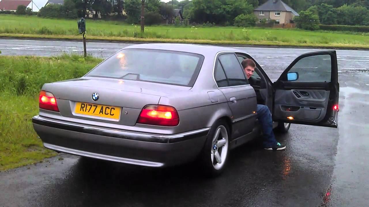 1997 bmw 740i e38 rear mufflers removed