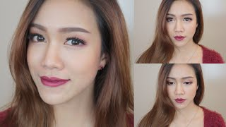 How to: แต่งหน้าโทนสีแดงเบอรี่ ♡ Berry Lips Makeup Tutorial for FALL 2014 (Collab w/ thetukkytuk11) Thumbnail