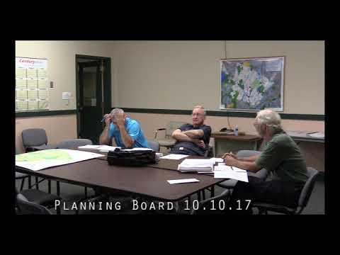 Planning Board 10.10.17
