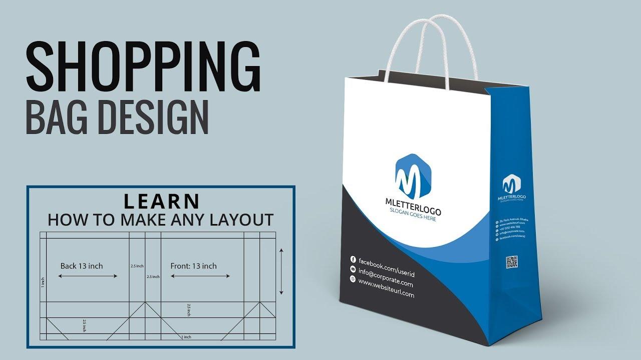 Shopping Bag Design In Illustrator Dieline How To Make A