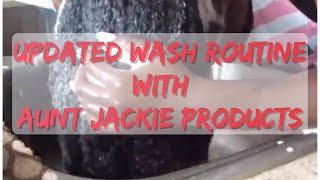 MY SIMPLY UPDATED WASH DAY ROUTINE 2017| AUNT JACKIE'S PRODUCT REVIEW | HANGINGWITHLO