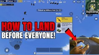 How To LAND BEFORE EVERYONE + Hand Cam - Pro Tip | PUBG Mobile