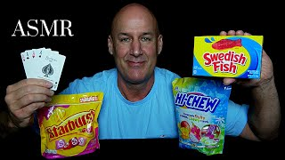 ASMR: ALL NEW~RELAXING SOLITAIRE/EATING CHEWY CANDY~SOFT SPOKEN/WHISPER