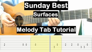 Sunday Best Guitar Lesson Melody Tab Tutorial Guitar Lessons for Beginners