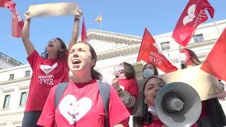 Los PROVIDA no somos delincuentes: PROTESTA frente al Congreso de los Diputados