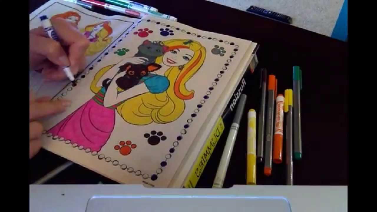 COLORING BARBIE : Барби и питомцы раскраска мультик - YouTube