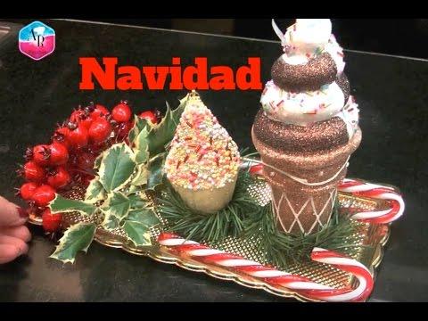 Arreglo floral para decorar la navidad centro de mesa - Youtube centros de mesa navidenos ...