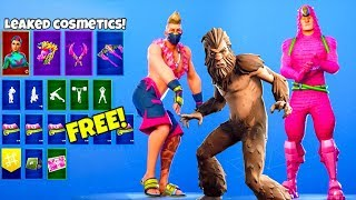 *NEW* Skins & Emotes..! (FREE Rewards, Bigfoot skin, Shadow Legends pack) Fortnite Battle Royale