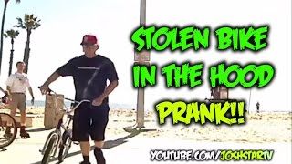 Stealing a Bike In The Hood Prank
